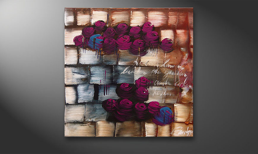 Clouds of Roses 80x80x2cm Cuadro