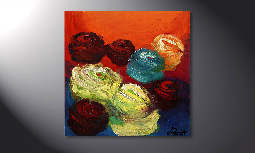 Colors of Roses 70x70x2cm Cuadro