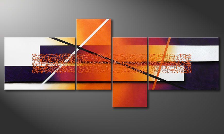 Cuadro sobre lienzo Afterglowing Memories 240x100x2cm