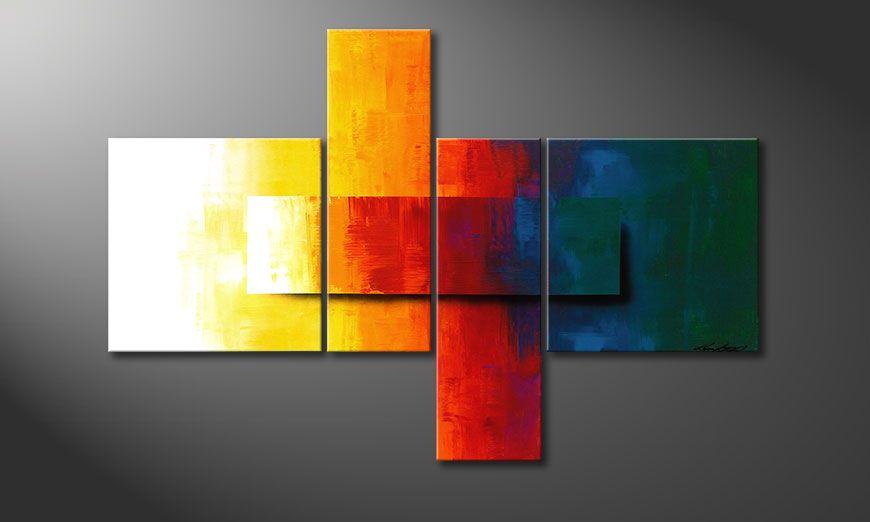 Decoración para la pared con Rainbow Colors 120x80x2cm