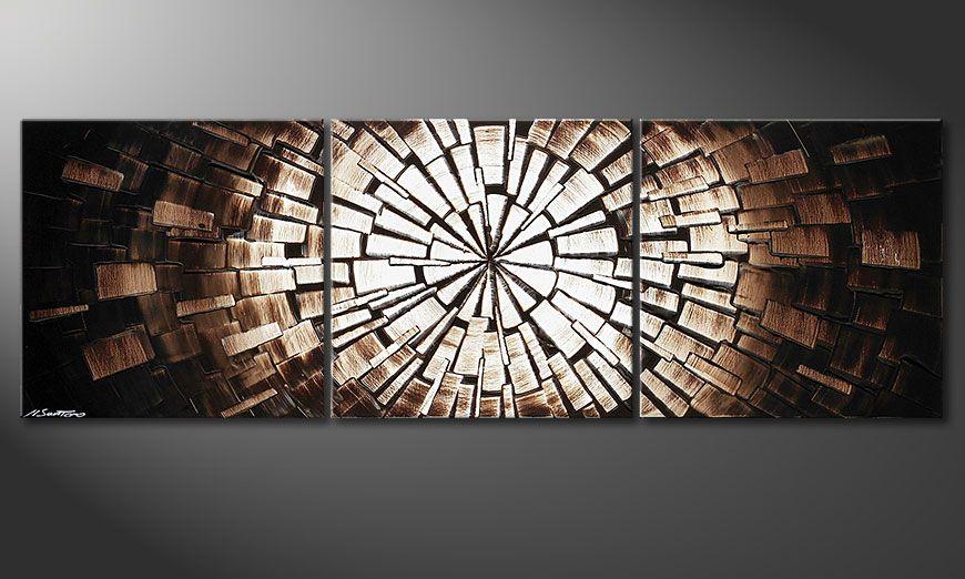 El bello cuadro Center of Babylon 150x50x2cm