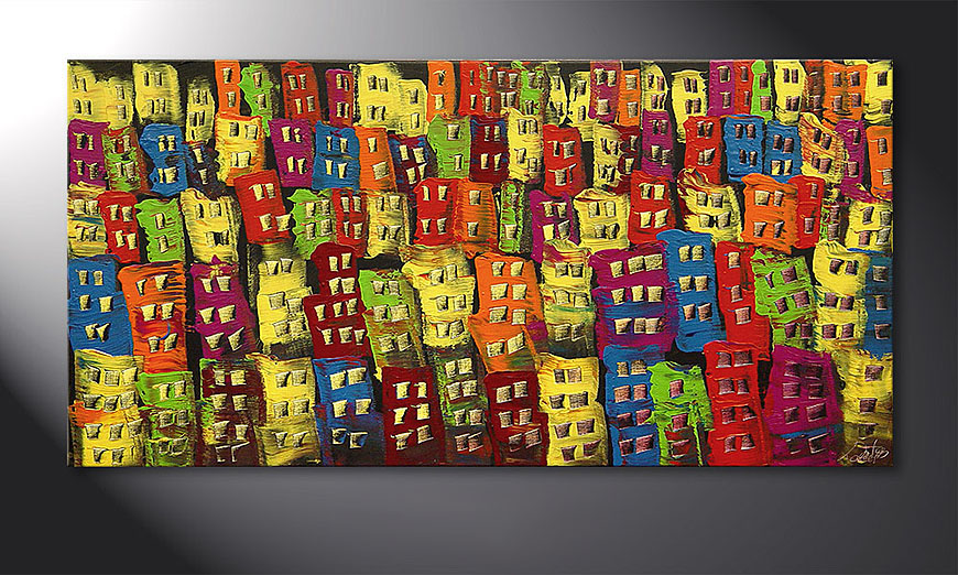 El cuadro Beauty of a City de 120x60x2cm