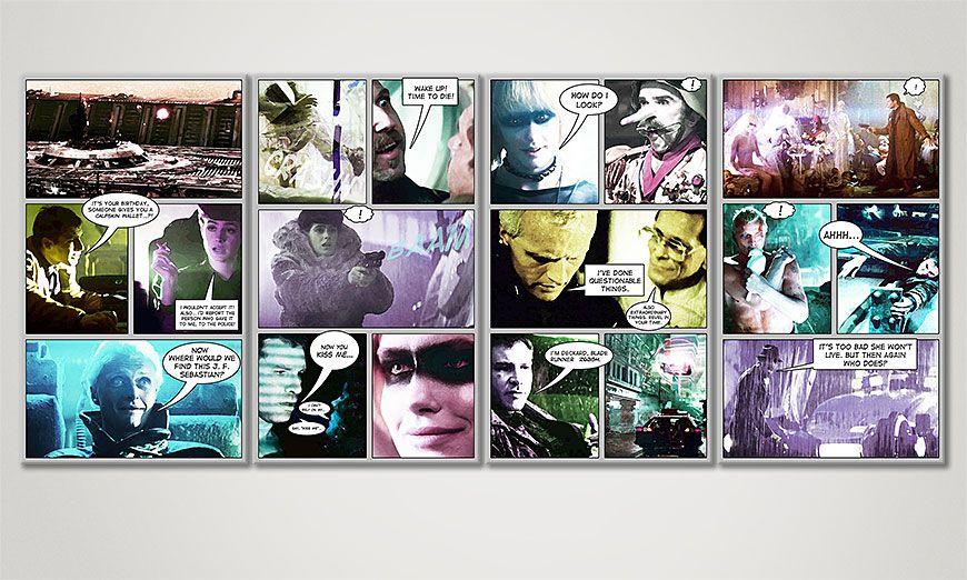El cuadro Blade Runner de 160x70x2cm