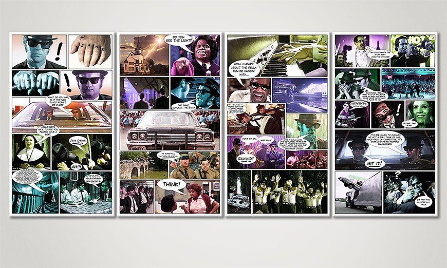 El cuadro Blues Brothers de 160x70x2cm