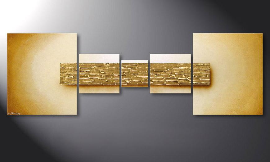 El cuadro Broken Gold de 180x60x2cm