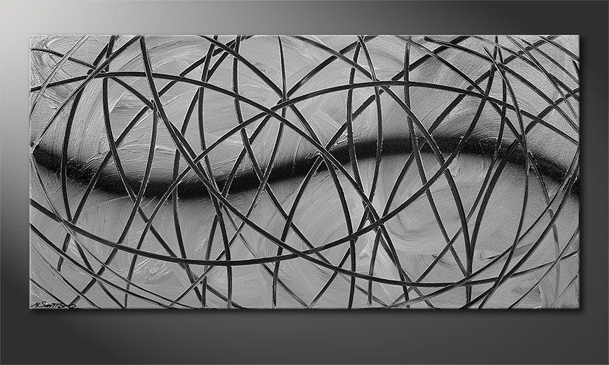 El cuadro Broken White 120x60x2cm