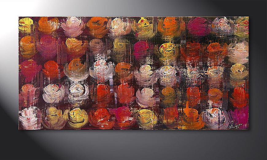 El cuadro Colored Roses 120x60x2cm