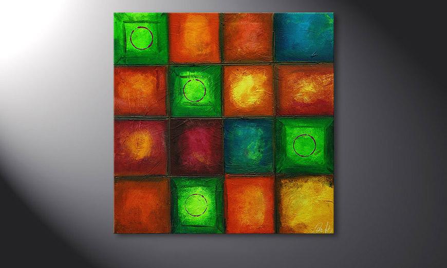 El cuadro Colorful Cubes 80x80x2cm