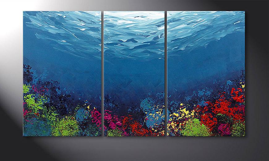 El cuadro Coral Garden 140x80x2cm