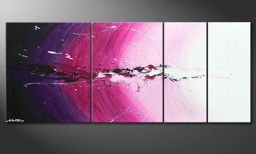El cuadro Cosmic Splash de 170x70x2cm