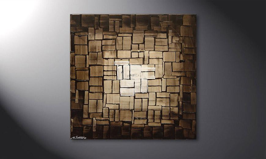 El cuadro Cubic Light de 80x80x2cm