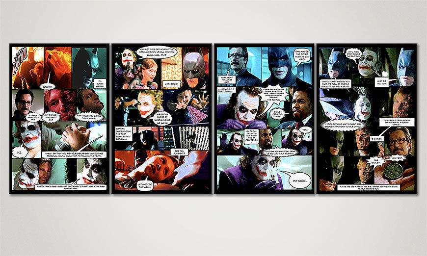 El cuadro Dark Knight de 160x60x2cm