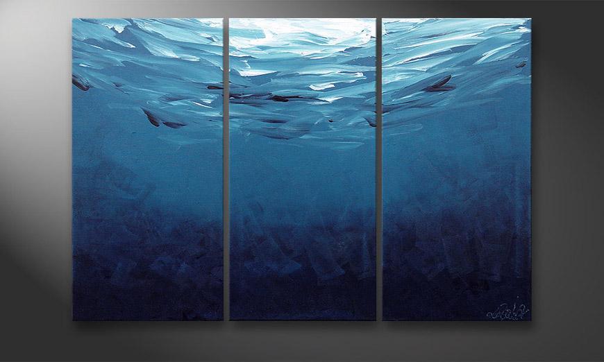 El cuadro Deep Blue 120x80x2cm
