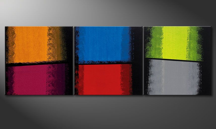 El cuadro Departed Colors 210x70x2cm