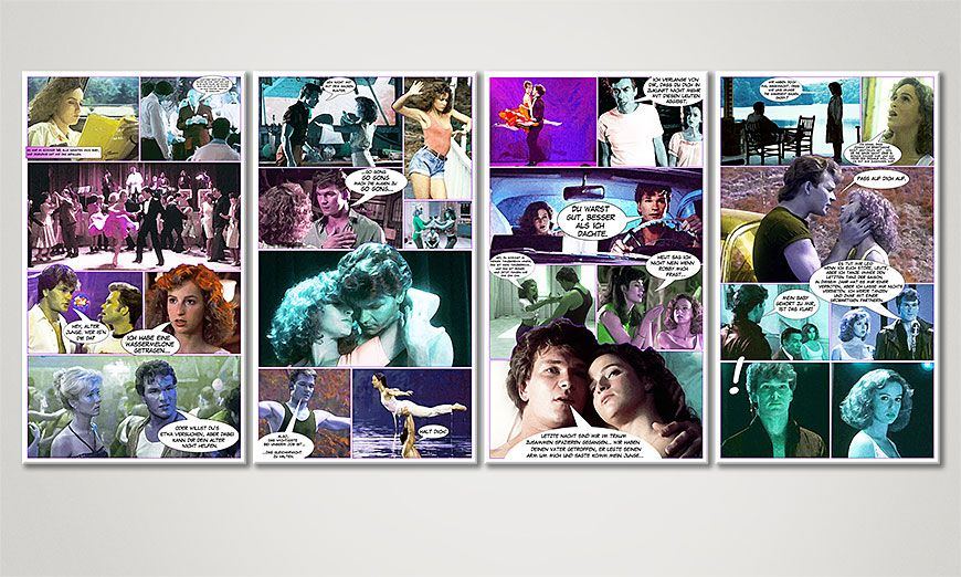 El cuadro Dirty Dancing 160x70x2cm