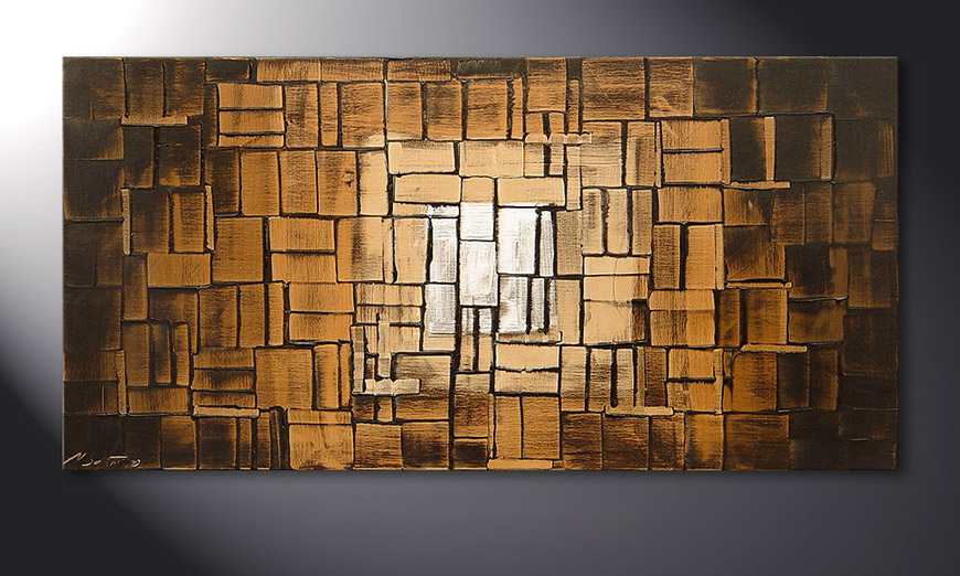 El cuadro Earth Cubes de 120x60x2cm