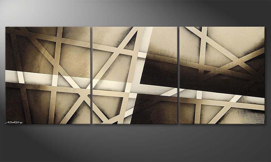 El cuadro Earthquake 180x70x2cm