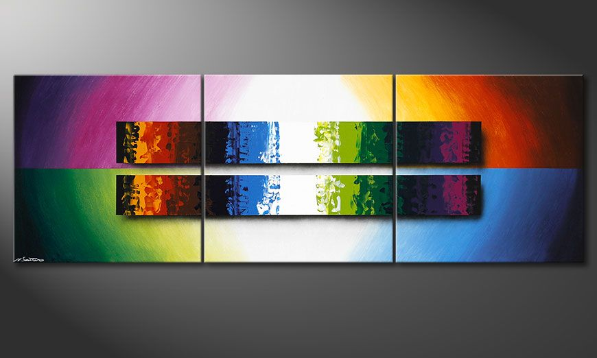 El cuadro Expression of Colours 210x70x2cm