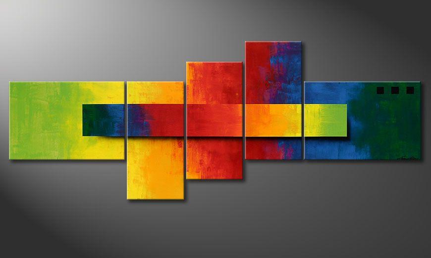 El cuadro Facets of a Rainbow 210x80x2cm