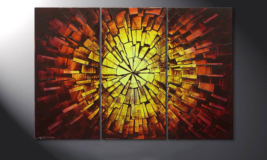 El cuadro Fiery Explosion 120x80x2cm