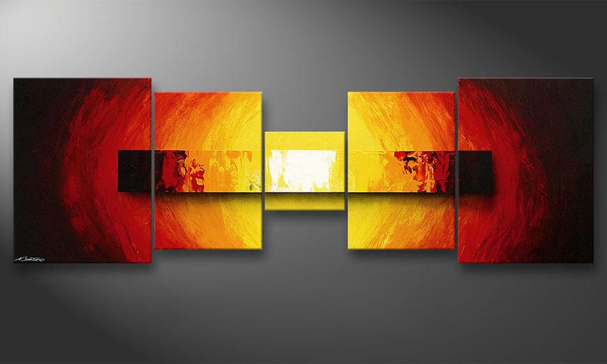 El cuadro Fire Bloc de 210x70x2cm