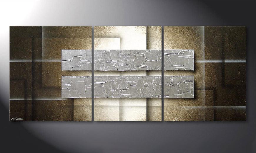El cuadro Frozen Blocs 170x70x2cm