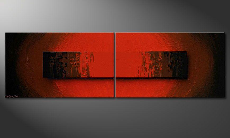 El cuadro Glowing Red 200x60x2cm