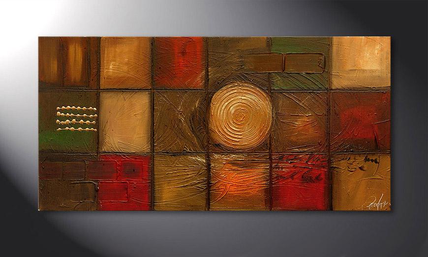 El cuadro Golden Center 120x60x2cm