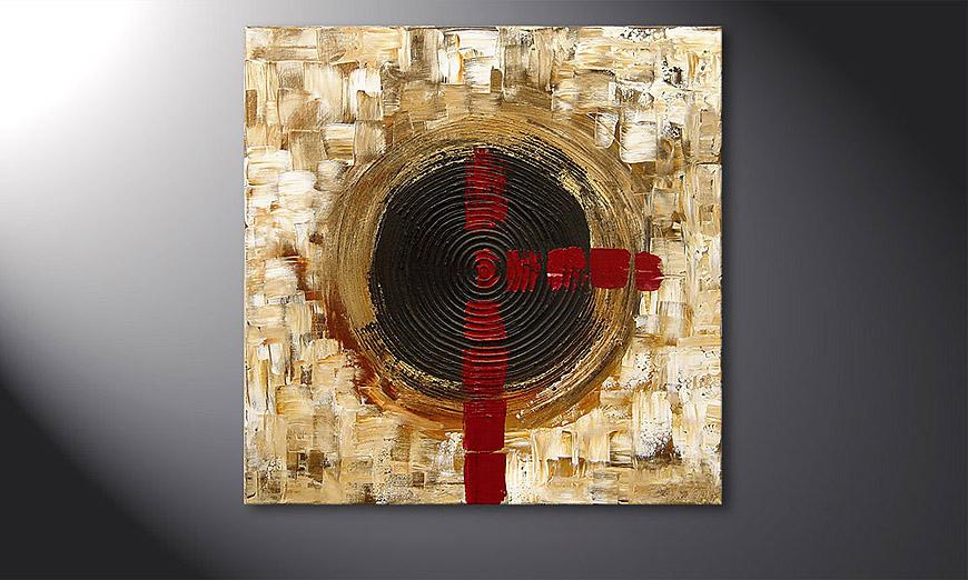 El cuadro Golden Times 80x80x2cm