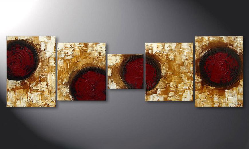 El cuadro Hot Spots 190x60x2cm