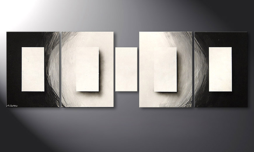 El cuadro Illuminated Cubes 220x70x2cm