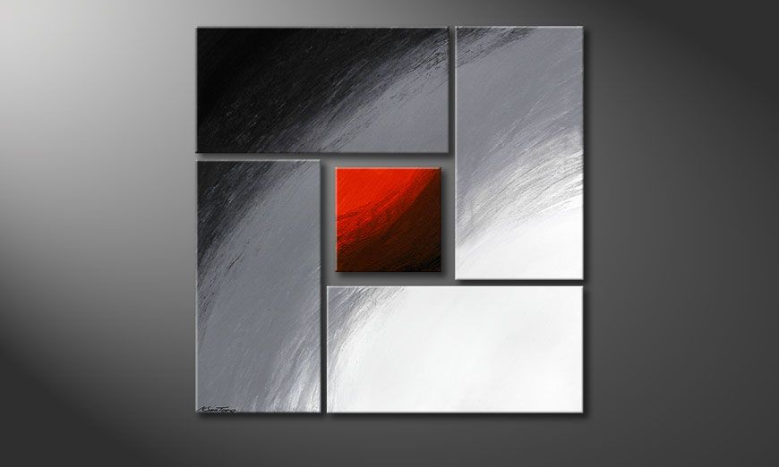 El cuadro Internal Heat 90x90x2cm (2 und 4cm)