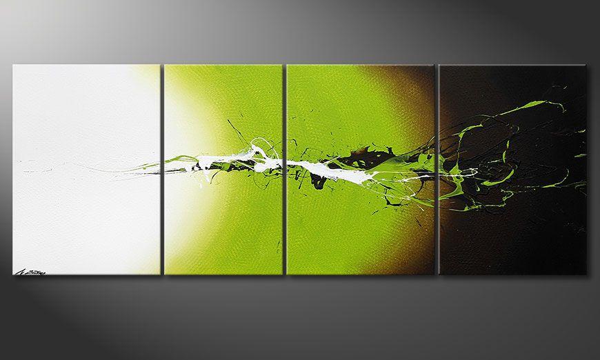 El cuadro Juicy Splash de 190x70x2cm