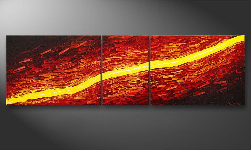 El cuadro Lava Stream de 200x60x2cm