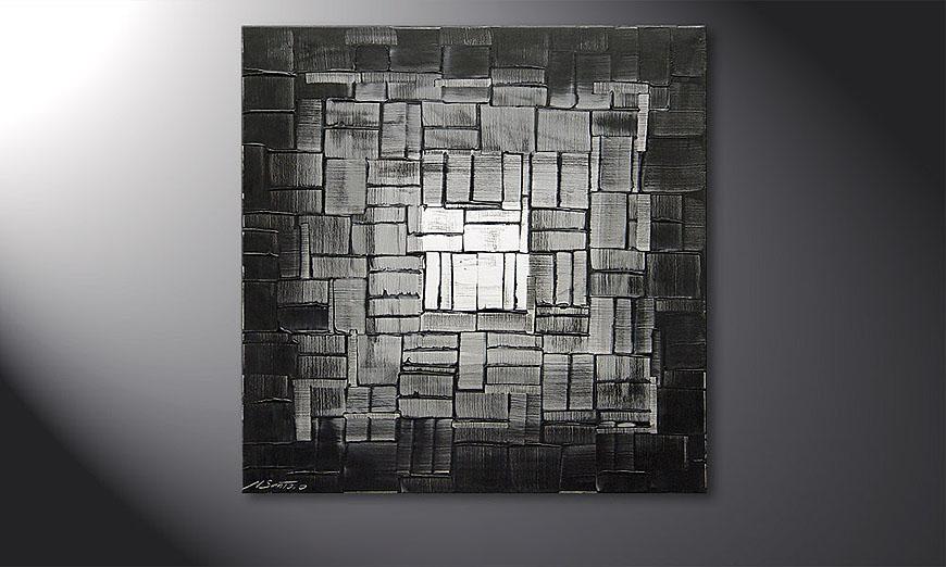 El cuadro Light Cube de 80x80x2cm