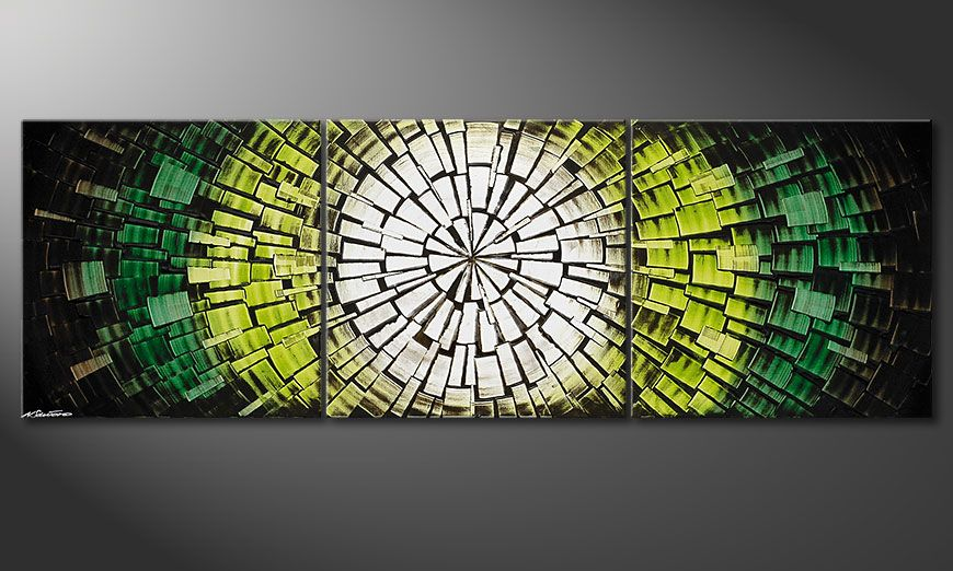 El cuadro Light of Hope 210x70x2cm