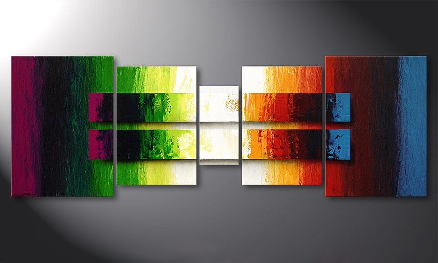 El cuadro Liquid Colours 200x70x2cm