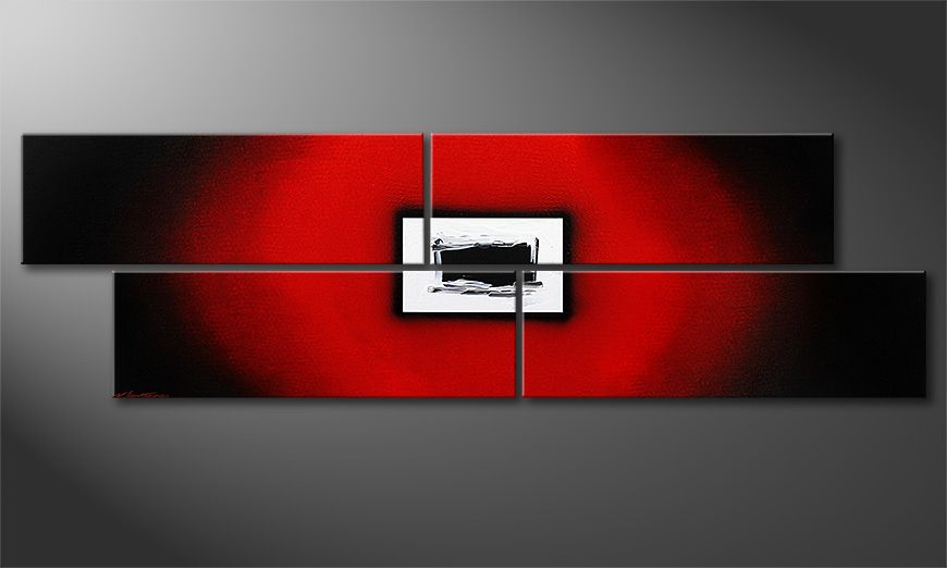 El cuadro Lost Red de 200x60x2cm