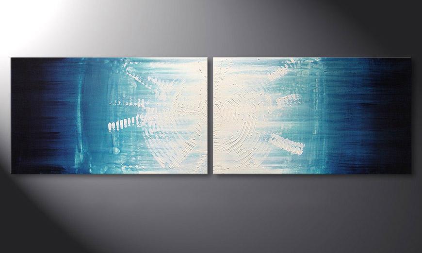 El cuadro Maelstrom 200x60x2cm