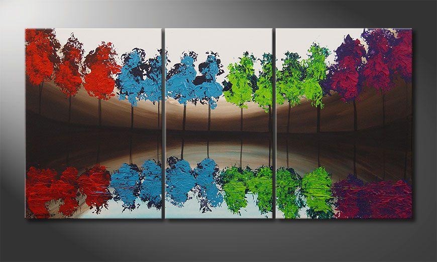 El cuadro MiracleTrees 140x70x2cm
