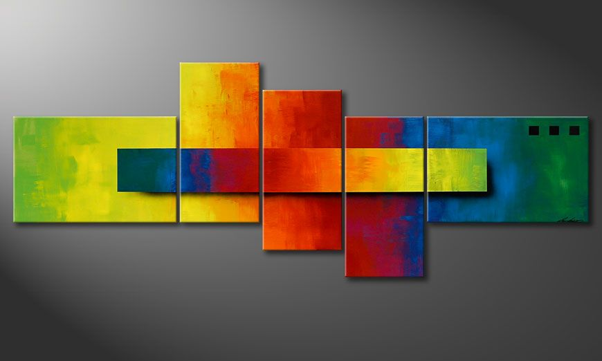 El cuadro Piece of a Rainbow 130x75x2cm