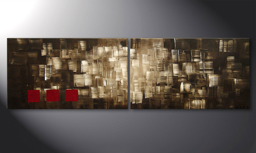 El cuadro Play of Light 200x60x2cm