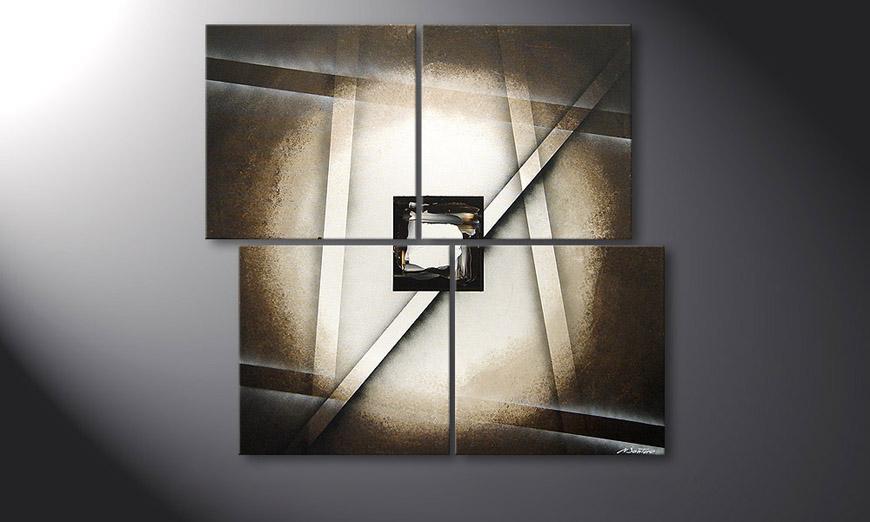 El cuadro Playful Shadows de 110x100x2cm