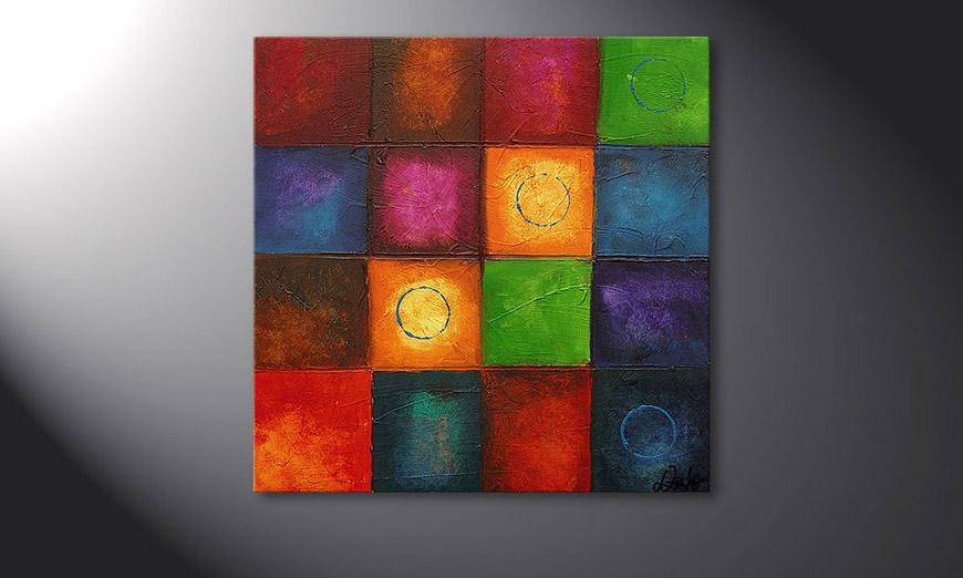 El cuadro Pot-Pourri 70x70x2cm