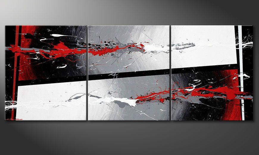 El cuadro Powerful Contrast 180x70x2cm