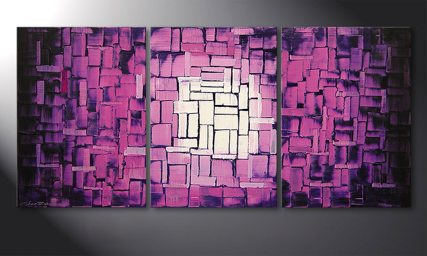 El cuadro Purple Afterglow 150x70x2cm