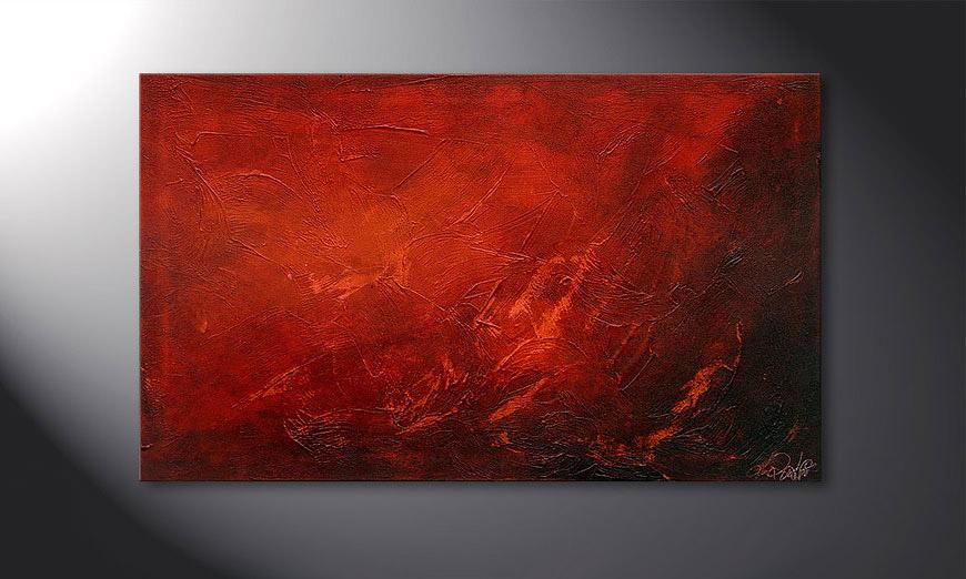 El cuadro Red 100x60x2cm