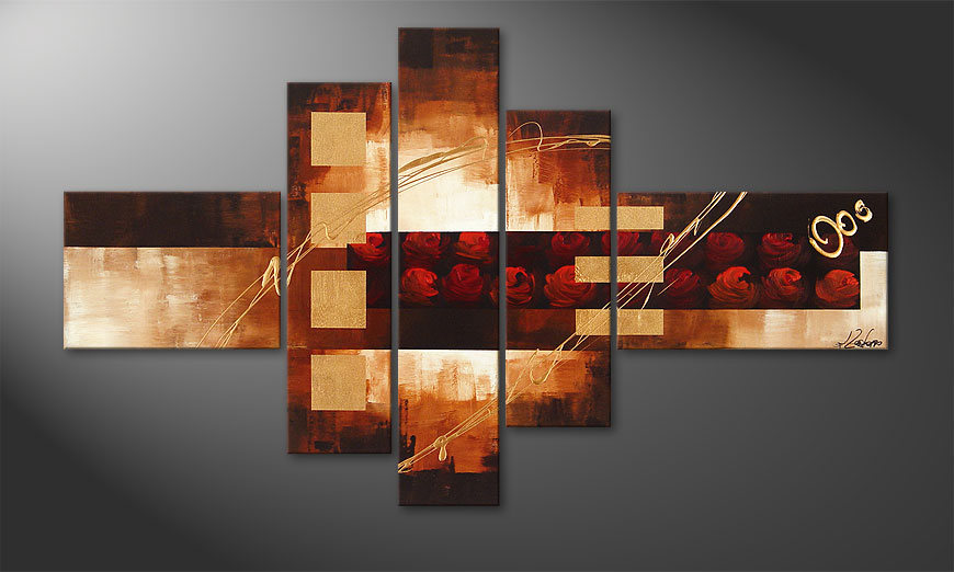 El cuadro Rose Phantasies 150x90x2cm