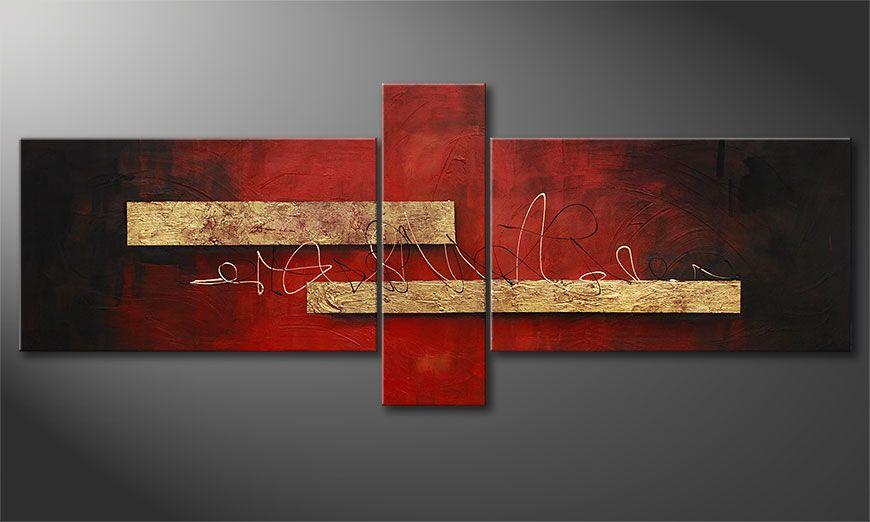 El cuadro Sense of Delight 230x90x2cm
