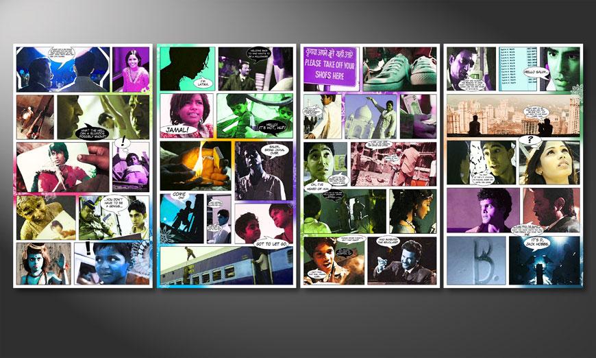 El cuadro Slumdog Millionaire 160x70x2cm